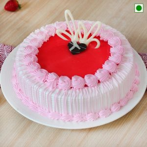 Eggless Half Kg Strawberry Cake