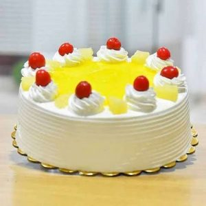 Eggless 1kg Pineapple Cake