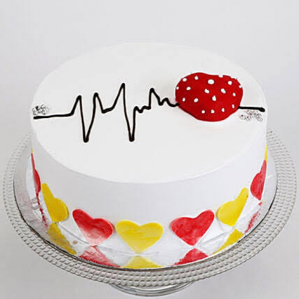 Heart Beat Chocolate Cake Half Kg-(21)