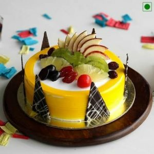 1 Kg Fresh Fruit Cake Eggless