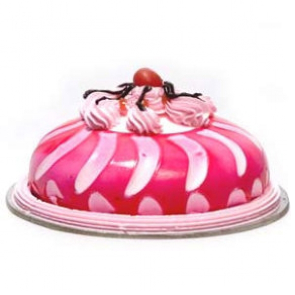 Eggless 1kg Strawberry Cake-13
